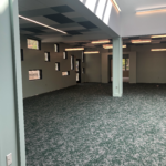 Carpet is installed in Children's Wing