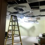 Lights are installed in the new YA Room