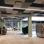 New ceiling is installed in the Children's Wing